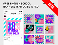 FREE ENGLISH SCHOOL BANNERS TEMPLATE