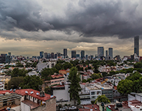The sky after the storm in Mexico City