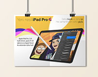 iPad Pro Advertising Poster