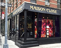 Sign painting at Maison Close store in Soho, NYC