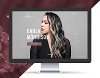 Carla Morrison Webpage Design