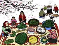 Banh Chung Wrapping