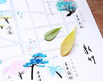 Map Illustration, City Trees