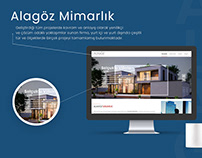 Alagöz Mimarlık Web Arayüz Tasarımı