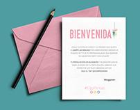 Bloggever diseño papelería carteleria evento blogs