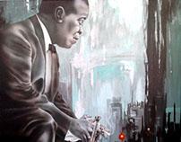 Retrato de Louis Armstrong