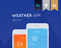Weather app for iOS (Mobile UI Design)
