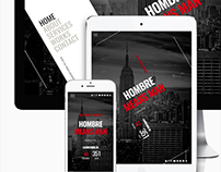 Hombre || Responsive Coming Soon Page