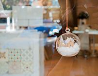 """Diseño de escaparates de Navidad, """"Secretos del agua""""."""