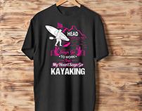 Kayaking & airplane Tshirt Desing Bundle