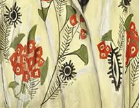 Pintura Digital Mujer en kimono