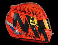 Nikita Mazepin F2 2019 Helmet Design