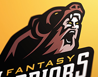 Fantasy Warriors Sports Logo