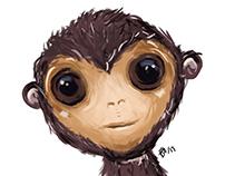Big eyed monkey