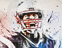Tom Brady: 30x40 Signed Collector's Canvas