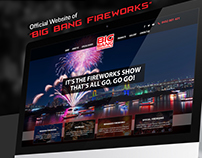 Big Bang Fireworks Web Designing Concept