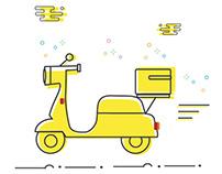UI Express Delivery - Illustration Work, Express