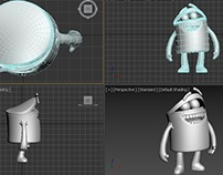 Cartoon simple characters models