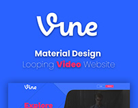 Vine Material Design Website Template