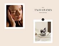 Product Label Design: Two Cranes