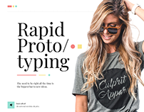 Rapid Prototyping 1 | Top menu with icons