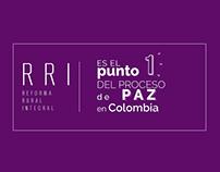 Iconos Proceso de Paz en Colombia. icons of the peace.