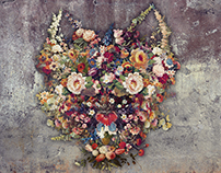 """Collage """"Flowers"""" for large-format printing, h=300 cm"""