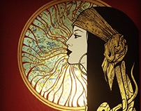 SOLE limited edition print gold leaf
