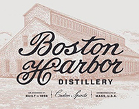 Boston Harbor Distillery Labels created by Steven Noble