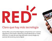 RED - Propuesta UX/UI Blog de tecnología