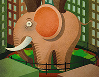 """Vertical ZOO"" illustration for ""Le Vanvere"" Contest"