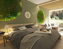 Eco-hotel room concept