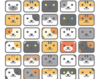 Neko Atsume Kitty Square Icons