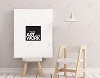 Canvas Poster Mockup Nursery Minimalistic - Portrait