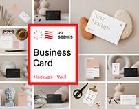 Business Card Mockups Vol. 1