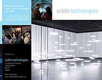 Subtle Technologies tri-fold brochure