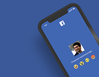 Facebook mobile app login screen Redesign