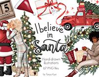 I Believe In Santa Clipart