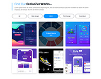 Multipurpose Website Homepage Design Exploration