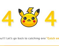 Pokemon 404 Page - DailyUI #008
