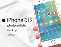 iPhone 6s Photorealistic Mockups 10 PSD
