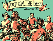 Beer label illustration for Portugal The Beer