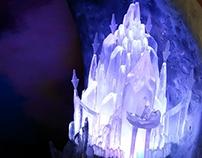 Luminária Castelo de Gelo da Elsa - Maquete de Frozen