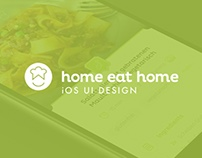Home Eat Home — iOS app Design