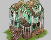 Isometric Victorian House