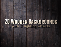 20 Wood Backgrounds / Textures PSD