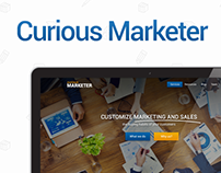 Curious Marketer - Web design
