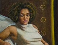 Fallen Olympus 48 x 56 in oil on canvas