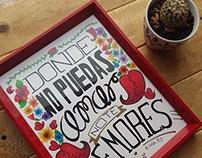 Frida que inspira - Lettering