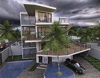 Modern Villa Residential Area